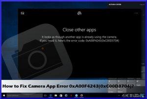Wie behebt man den Webcam-Fehler 0xA00F4243(0xC00D3704) unter Windows?