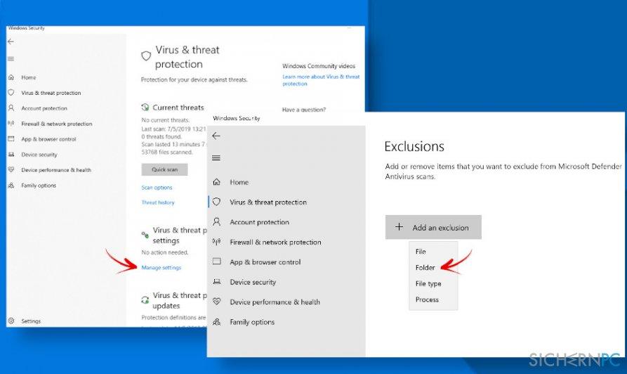 Fix Windows Defender alerts