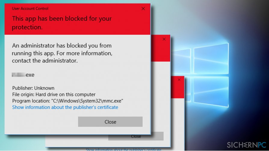"How to fix ""An administrator has blocked you from running this app"" error on Windows 10?"