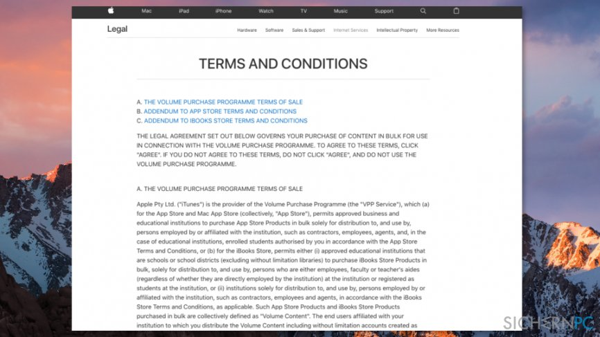 Apple Terms and Conditions