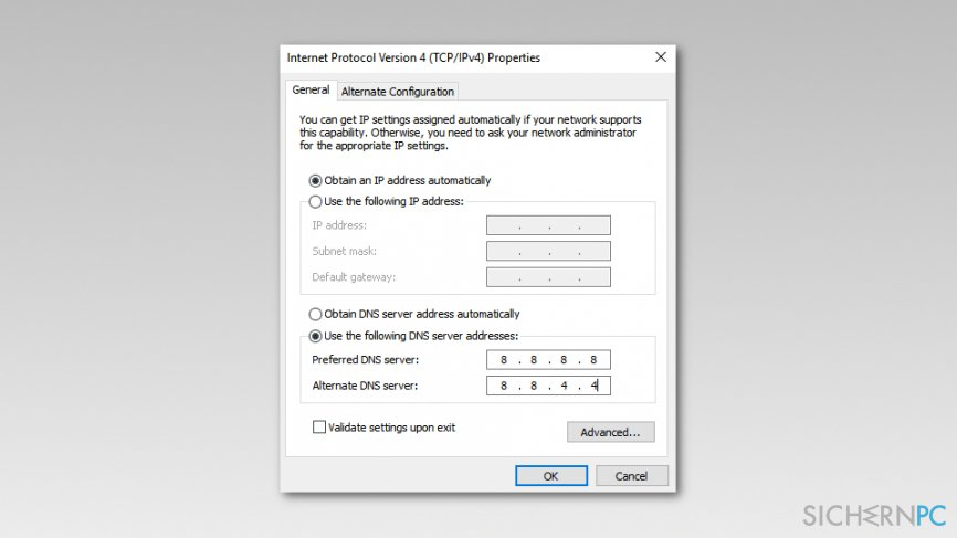 Change TCP/IP4 Proxy Settings on Windows