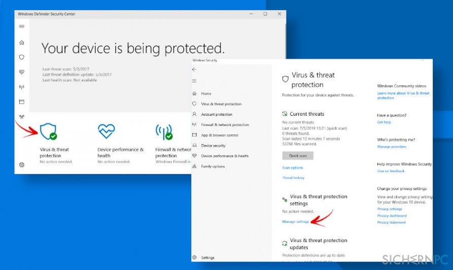 Fix Windows Defender false possitives