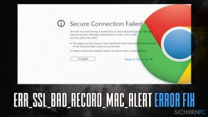 Wie behebt man den Fehler ERR_SSL_BAD_RECORD_MAC_ALERT?