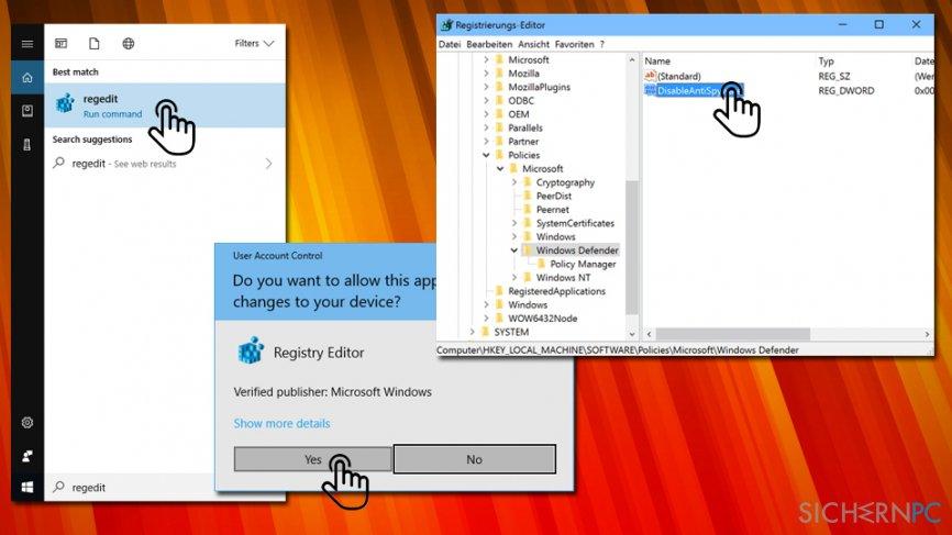 Error Code 0x800704ec - delete registry value