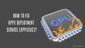 Wie behebt man eine hohe CPU-Auslastung von WSAPPX?