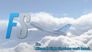 Wie behebt man, dass Microsoft Flight Simulator nicht startet - das Icon nicht funktioniert?