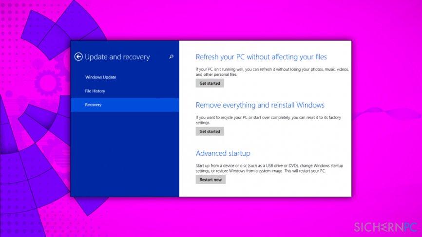 Reset your Windows OS