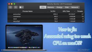 Wie behebt man unter macOS eine zu hohe CPU-Auslastung durch Accountsd?