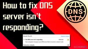 Wie behebt man, dass der DNS-Server nicht antwortet?