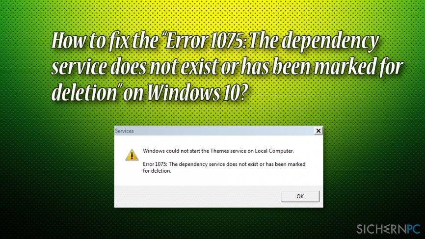 How to fix error 1075