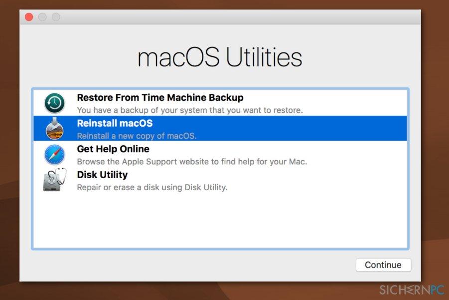 Error code 5010F occurs on Mac OS