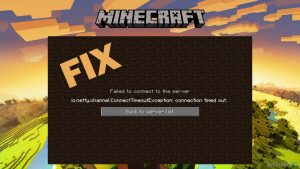 """Wie behebt man den Minecraft-Fehler """"io.netty.channel.ConnectTimeoutException connection timed out""""?"""