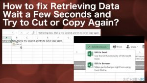 """Wie behebt man """"Retrieving data. Wait for a few seconds, then try cutting or copying again""""?"""