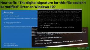 """Wie behebt man den Fehler """"Die digitale Signatur dieser Datei konnte nicht überprüft werden"""" in Windows 10?"""