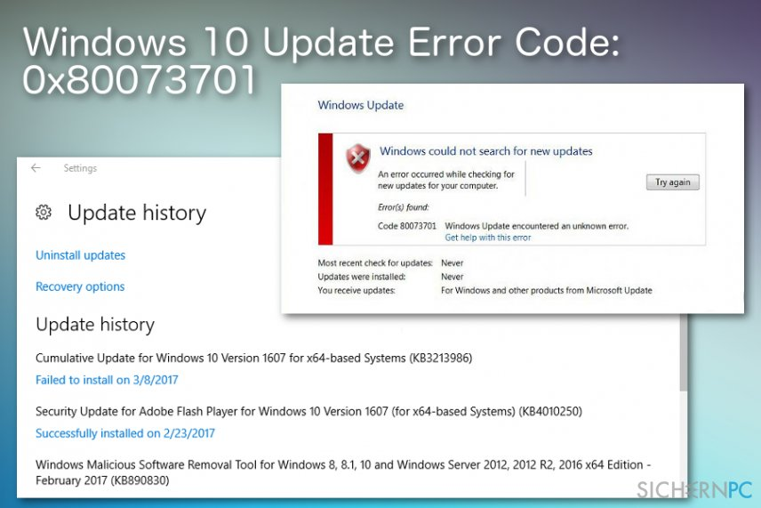 How to Fix Windows 10 Update Error Code: 0x80073701?