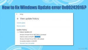 Wie behebt man den Windows Update-Fehler 0x80242016?