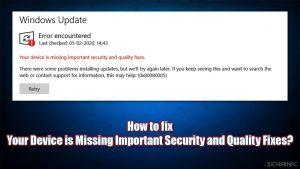 Wie behebt man 'Auf Ihrem Gerät fehlen wichtige Sicherheits- und Qualitätsfixes'?