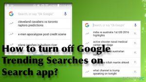 Wie deaktiviert man Googles Suchtrends in der Google-App?