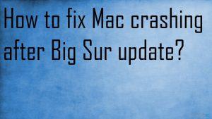 Wie behebt man, dass der Mac nach dem Update auf Big Sur abstürzt?