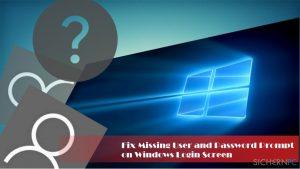Wie behebt man eine fehlende Benutzer- und Passwortabfrage beim Windows-Login?