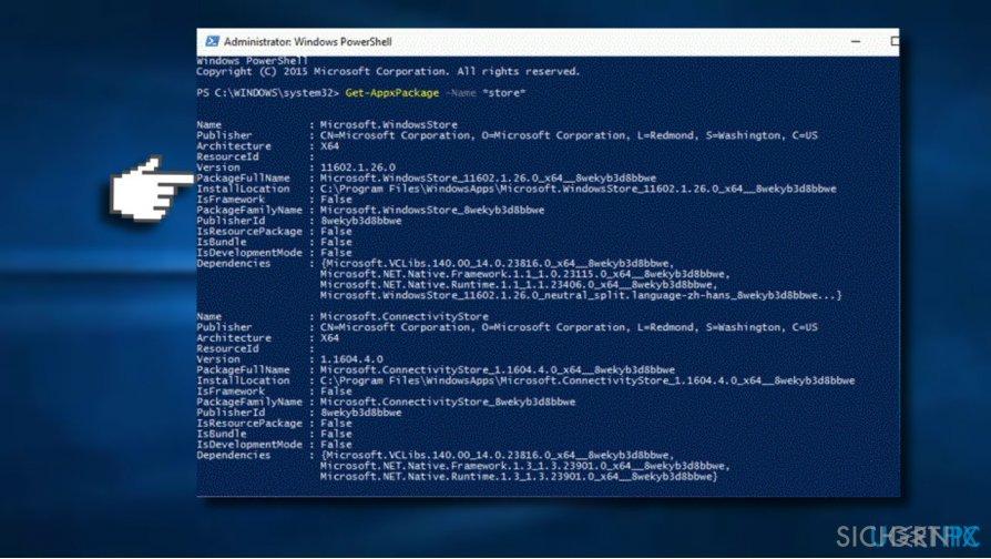 Modify Windows Store entry