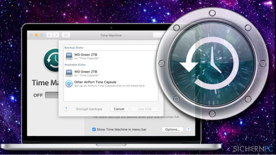 Restore Mac to the previous date