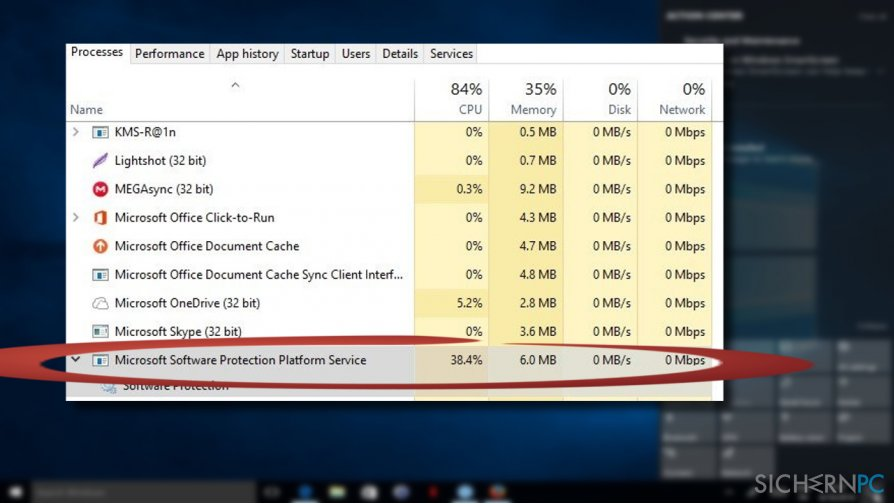 Sppsvc.exe high CPU usage