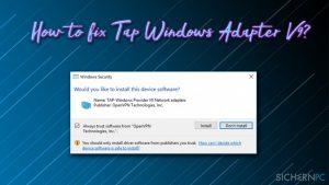 Wie behebt man Probleme mit dem TAP-Windows Adapter V9?
