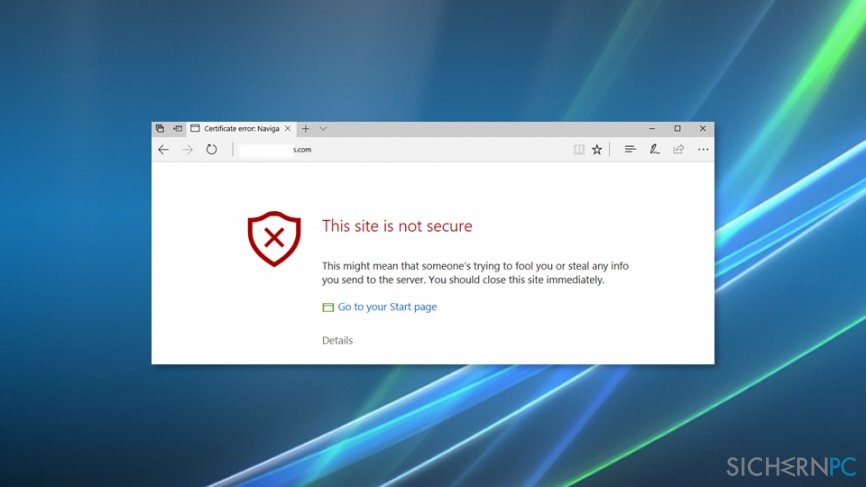 """How to Fix """"This site is not secure"""" pop-up with an error code DLG_FLAGS_SEC_CERT_CN_INVALID?"""