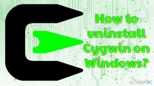 Wie deinstalliert man Cygwin unter Windows?