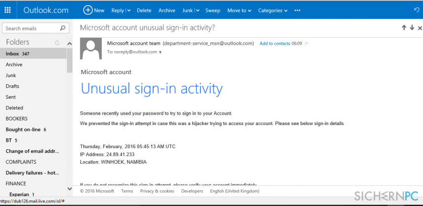 how to sign into microsoft outlook account