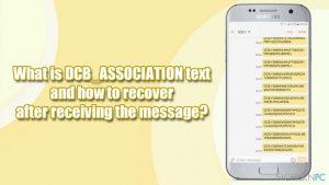 Was hat DCB_ASSOCIATION zu bedeuten und was ist nach Erhalt der Nachricht zu tun?