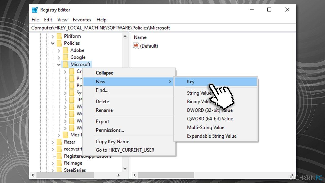 Create Windows Store key