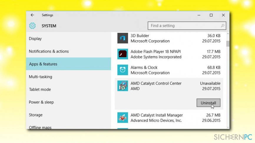 Windows Store error elimination by reinstalling apps