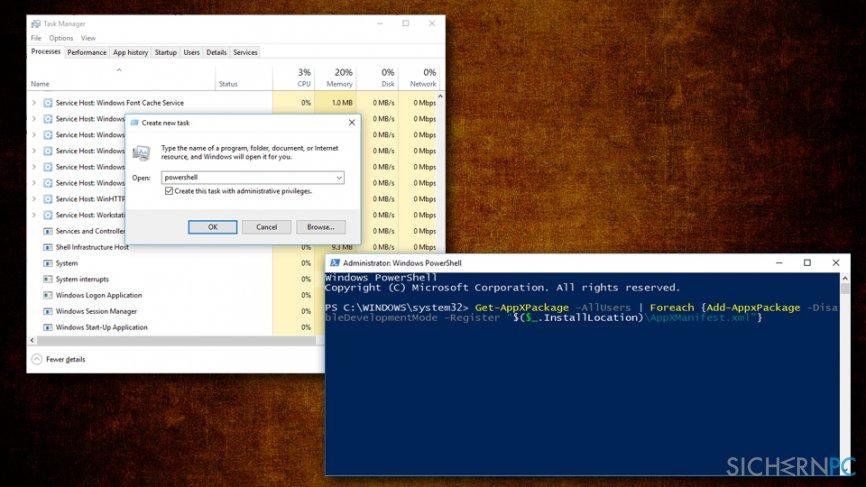 Taskbar not responding - re-register taskbar