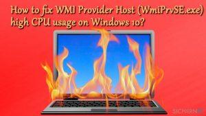 Wie behebt man eine hohe CPU-Auslastung von WMI Provider Host (WmiPrvSE.exe) unter Windows 10?